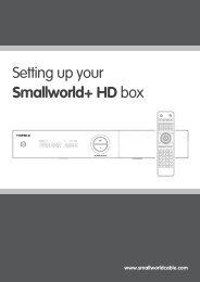 Setting up your Smallworld+ HD box