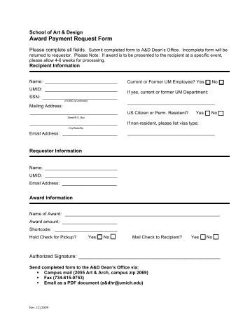 Payment Request Form - Financial Services - University Of Alberta