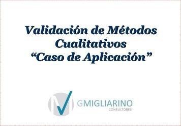 Validación de Métodos Cualitativos - QCNet