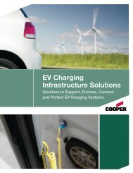 EV Charging Infrastructure Solutions - Cooper Industries