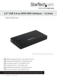 """2,5"""" USB 3.0 zu SATA HDD-Gehäuse – 12,5mm - StarTech.com"""