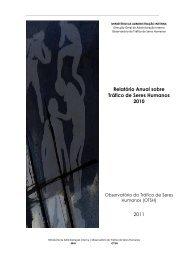 Relatório Anual sobre Tráfico de Seres Humanos 2010 2011
