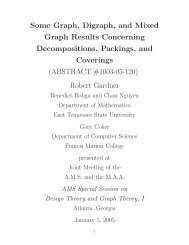Some Graph, Digraph, and Mixed Graph Results Concerning ...
