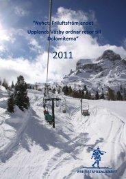 Nyhet: Friluftsfrämjandet Upplands Väsby ordnar resor till Dolomiterna