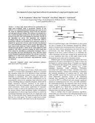 Development of a fuzzy logic based software for automation of a ...
