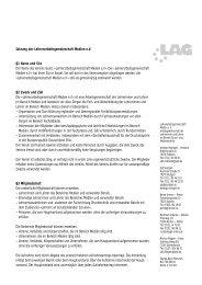 Satzung der Lehrerarbeitsgemeinschaft Medien ... - LAG Medien eV