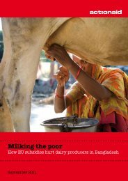 Milking the poor - ActionAid International