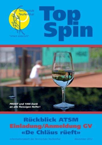 TopSpin 3/12 - Tennisclub Teufenthal