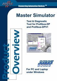 Datasheet on Profibus Master Simulator - RESoluCOM