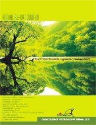 Annual Report 2008-09 - Confidence Petroleum India LTD