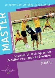 Plaquette de présentation du master - Université du Littoral Côte d ...