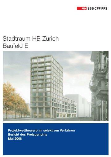 2008 - Jurybericht SBB Baufeld E, 60 S., 11.5 - Europaallee
