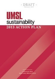 UMSL Campus Sustainability Action Plan - ACUPCC Reports ...