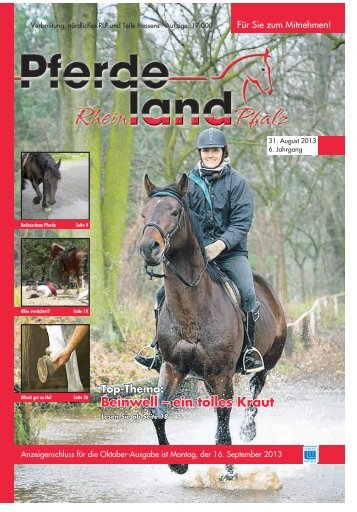 Pferdeland RLP Ausgabe August 2013 - PDF Download