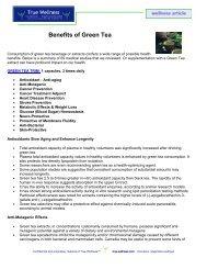 Benefits of Green Tea - True-Wellness