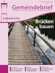 Informationen aus der Ev. Lukaskirchengemeinde - Evangelische ...