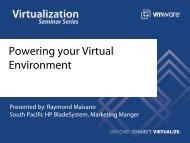 Powering your Virtual Environment - VMware