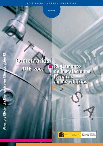 Comentarios RITE 2007 Reglamento de instalaciones ... - Diteco