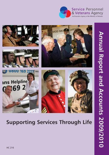 Annual Report and Accounts 2009/2010 - Veterans Agency