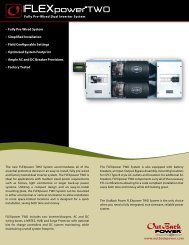 FLEXpower TWO Spec Sheet - Silicon Energy