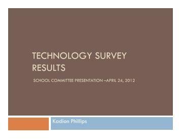 TECHNOLOGY SURVEY RESULTS - Northbridge Public Schools
