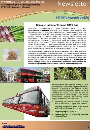 PTT RTI Newsletter Vol.6 No.1 (January-March 2011)