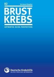 """Blauer Ratgeber """"Brustkrebs"""" - Deutsche Krebshilfe eV"""