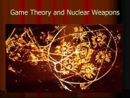Game Theory and Nuclear Warfare condensed