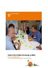 Rammer for tilsyn med dagtilbud - Ballerup Kommune