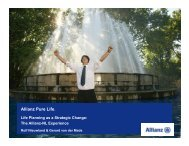 Allianz Pure Life. - The Kinder Institute of Life Planning