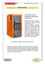 CALDERAS DE PELLETS CALDERAS DE LEÑA - Caloryfrio.com