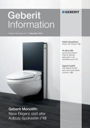 Neu: Geberit Information 2/2010