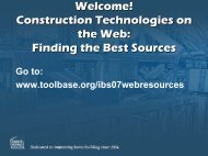 Finding the Best Sources - ToolBase Services