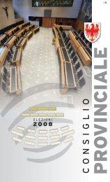 Download - Opuscolo elezioni provinciali 2008 - Consiglio della ...
