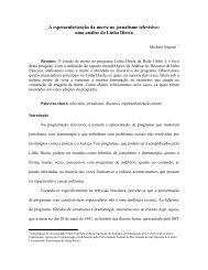 Criminosos e vítimas no programa Linha Direta: um estudo ... - SBPJor