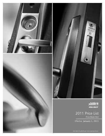 Corbin Jan 2011 Pricebook.pdf - Access Hardware Supply