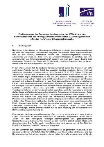 Positionspapier der Deutschen Landesgruppe der lFPl e.V. und des ...