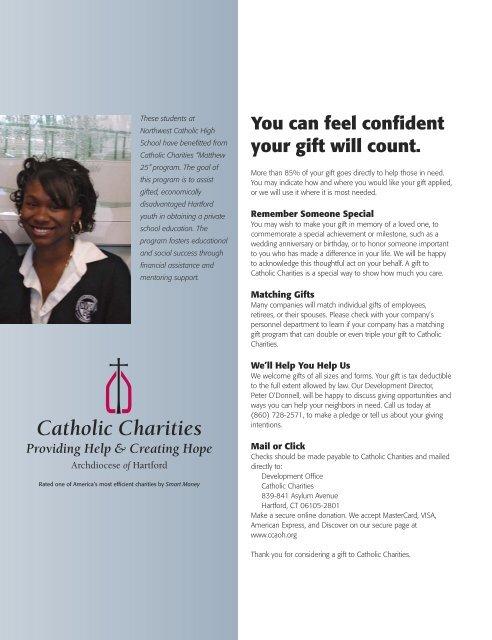 Volume 2, No. 1 - Catholic Charities