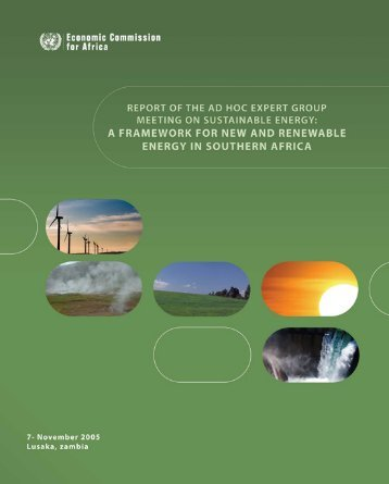 a framework for new and renewable energy in southern africa
