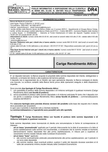 Carige Rendimento Attivo - Gruppo Banca Carige