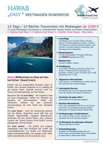 Easy-Hawaii - 3 Islands ab € 2.379 - World Travel Net