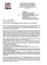 Comunicazione ASL ai Sindaci ed alla Provincia di Bergamo