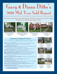 Gary & Diana Ditto's 2010 Mid-Year Sold Report
