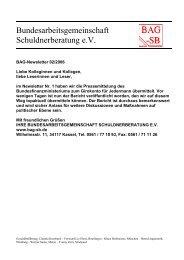 Bundesarbeitsgemeinschaft Schuldnerberatung e.V. - BAG-SB
