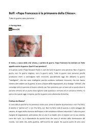 Leonardo Boff: «Papa Francesco è la primavera della Chiesa