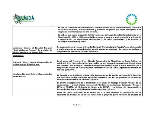 memoria 2009 - Secretaria de Ambiente y Desarrollo Sustentable