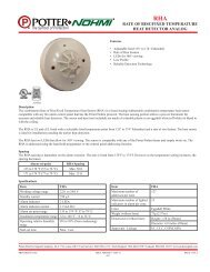 RAte of Rise/fixed tempeRAtuRe heAt detectoR AnAlog - DWG
