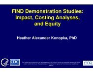 FIND Demonstration Studies: Impact, Costing Analyses, and Equity