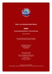 Katalog für Veranstaltungskalendar: Veranstaltungen