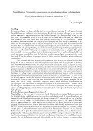 Klik hier voor de gehele lezing door Dr. Erik ... - Bisdom Haarlem